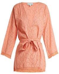Melissa Odabash - Pippa Long Sleeve Cotton Dress - Lyst