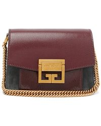 Givenchy - Gv3 Mini Suede And Leather Cross-body Bag - Lyst