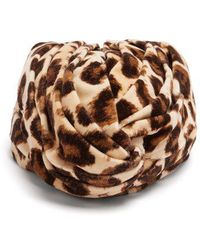 Gucci - Leopard-print Velvet Turban Headband - Lyst
