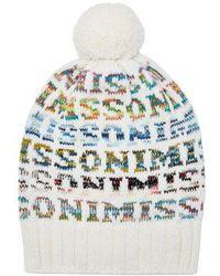 Missoni - Logo Knit Wool Beanie Hat - Lyst