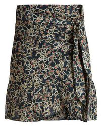 Étoile Isabel Marant - Tempster Abstract-print Linen Wrap Skirt - Lyst