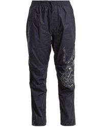 Maharishi - Tiger Embroidery Cotton Trousers - Lyst
