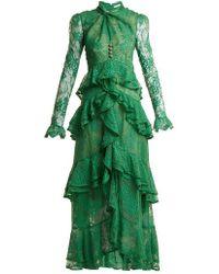 Erdem - Kimber Twist-front Ruffle-trimmed Lace Dress - Lyst