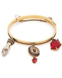 Alexander McQueen - Gold Charm Bracelet - Lyst