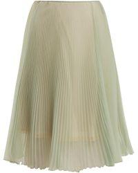 Prada   High-rise Pleated Skirt   Lyst