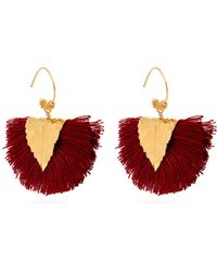 Elise Tsikis - Agia Tassel-embellished Earrings - Lyst