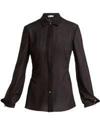 Lanvin - Sheer Silk-blend Shirt - Lyst