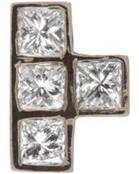 Ileana Makri - Diamond & White-gold Earring - Lyst