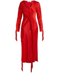 Diane von Furstenberg - V-neck Fringed Dress - Lyst