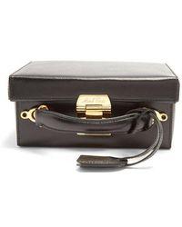 Mark Cross - Grace Small Saffiano-leather Box Bag - Lyst