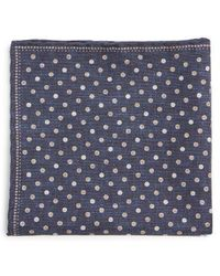 Brunello Cucinelli - Polka Dot Print Silk Blend Pocket Square - Lyst