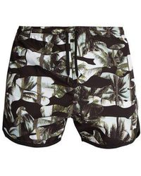 Neil Barrett - Camouflage Palm-print Swim Shorts - Lyst
