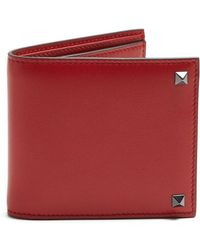 Valentino - Rockstud Embellished Leather Wallet - Lyst
