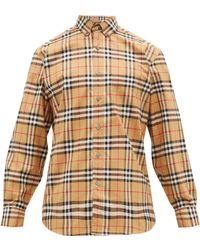 Jameson Checked Cotton Poplin Shirt Multicolour