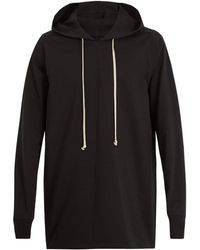 Rick Owens - Hooded Cotton-jersey Sweatshirt - Lyst
