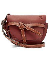 Loewe - Gate Leather Cross-body Bag - Lyst