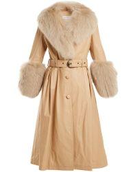 Saks Potts - Leather Coat With Fox Fur - Lyst