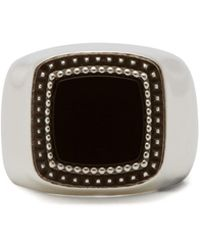 Emanuele Bicocchi - Chevalier Onyx Sterling Silver Signet Ring - Lyst