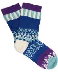 Burberry - Patchwork Wool-blend Socks - Lyst