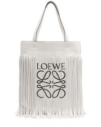 Loewe - Paula Logo-print Fringe Tote - Lyst