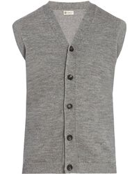 CONNOLLY - Cashmere-blend Sleeveless Cardigan - Lyst