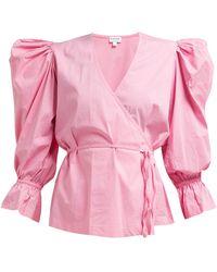 Rhode Resort - Valentina Cotton Blend Wrap Top - Lyst