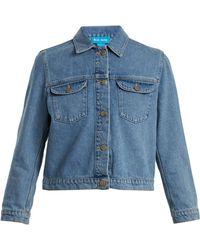 M.i.h Jeans - Sunland Cropped Denim Jacket - Lyst