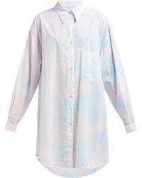 MM6 by Maison Martin Margiela - Tie Dye Oversized Cotton Shirtdress - Lyst