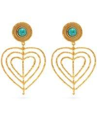 Sylvia Toledano - Valentine Heart Clip Earrings - Lyst