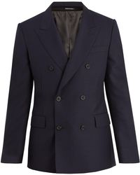 Alexander McQueen | Double-breasted Peak-lapel Wool Jacket | Lyst