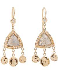 Jacquie Aiche - Diamond, Labradorite & Yellow-gold Earrings - Lyst
