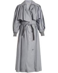 Vika Gazinskaya - Double-breasted Faux-leather Trench Coat - Lyst