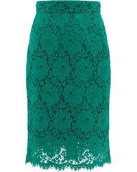 Dolce & Gabbana - Lace Midi Skirt - Lyst
