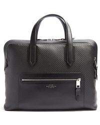 Smythson - Greenwich Woven-leather Briefcase - Lyst