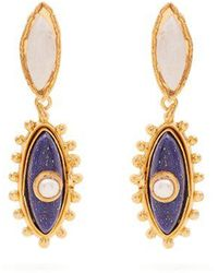Sylvia Toledano - Evil Eye Pearl And Lapis-lazuli Clip-on Earrings - Lyst