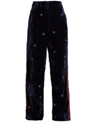 Jupe by Jackie - Moritz Wide Leg Silk Velvet Trousers - Lyst