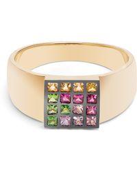 Ileana Makri - Sapphire, Ruby, Tsavorite & Yellow Gold Ring - Lyst
