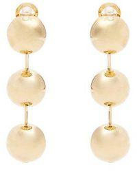 Balenciaga - Circle Hoop Earrings - Lyst