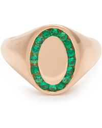 Jessica Biales - Emerald & Pink-gold Ring - Lyst