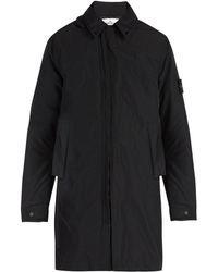 Stone Island - Zip Through Hooded Coat - Lyst
