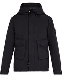 Stone Island - Double Hooded Technical Coat - Lyst