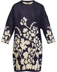 Marit Ilison - Reversible Floral Intarsia Cotton Coat - Lyst