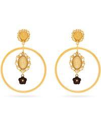 Dolce & Gabbana - Cameo Hoop Drop Earrings - Lyst