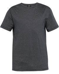 A.P.C. - Jimmy Fine Stripe Cotton T Shirt - Lyst