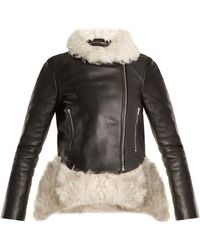 Preen By Thornton Bregazzi Shearling-trimmed Leather Jacket
