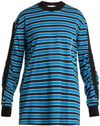 Givenchy - Striped Cotton Sweatshirt - Lyst