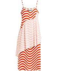 House of Holland Wave Print Slip Dress