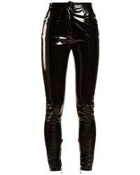 Balmain | Coated Mid-rise Skinny-leg Trousers | Lyst