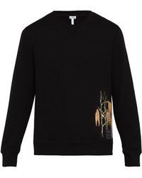 Loewe X Charles Rennie Mackintosh Cotton Sweatshirt - Black