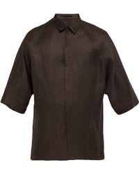Haider Ackermann - Zigzag Weave Linen Blend Shirt - Lyst